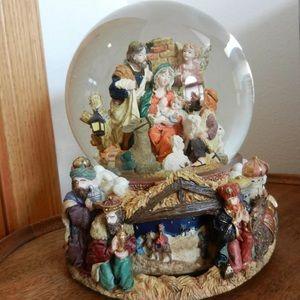 Joy to the World Revolving Snow Globe